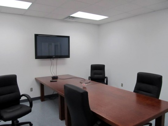 Conference room for HD video and presentations